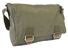 Army Green #Courier #Messenger Bag