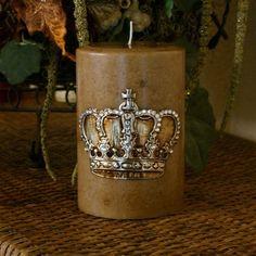 Hoem Decor Candle Swarovski Crown Decorative Pillar Home Candles 4 X