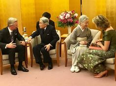 King Philippe, Queen Mathilde, Japanese Emperor Akihito, Japanese Empress Michiko