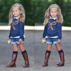 This Cute fall outfits ideas for toddler girls 37 image is part from 90 Cute Fall Outfits Ideas for Toddler Girls (Gorgeous Gallery) gallery and article, click read it bellow to see high resolutions quality image and another awesome image ideas. Little Girl Outfits, Little Girl Fashion, Toddler Fashion, Toddler Outfits, Kids Fashion, Fashion Wear, Little Girl Style, Fashion Women, Fashion Top