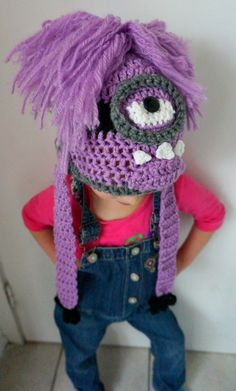 Evil Minion Crochet Hat by Karohook on Etsy, $16.00