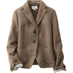 WOMEN IDLF SOFT TWEED JACKET, BROWN, large