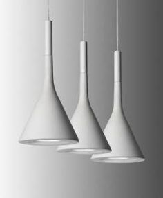 Suspension lamp with concrete diffuser DESIGNER:  Lucidi E Pevere  MEASUREMENTS:  Width: 6.5 inch Diffuser Height: 14 inch  HELPFUL NOTES:  Light Source: Halogen 1x60W G9 Light Source: LED 1x9W GU10 PAR 16 40°