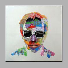 【今だけ☆送料無料】 アートパネル  人物画1枚で1セット 男性 サングラス フェイス パッチワーク【納期】お取り寄せ2~3週間前後で発送予定