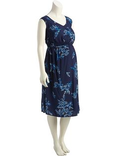 Maternity Smocked Waist Dress