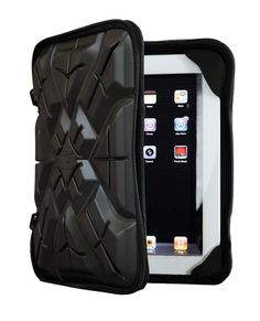 This is a G-Form portfolio case for your iPad or other similar sized tablets. It has a special soft-sided material that properly hardens and distributes force on impact. It actually kept an iPad completely intact and working after falling from a weather balloon 100,000 feet in the air and onto a rocky hillside. Ridiculous.