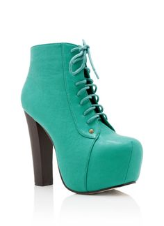 Brand new Fashionable sea green booties made to be dupes of the high profile Jef's Litas and let me tell you these are the IT shoes!