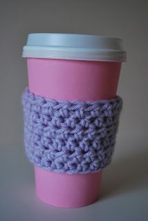 Free coffee cozy pattern. Easy to embellish