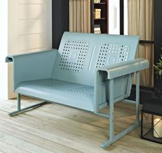 Patio Loveseat Glider Rocking Chair Bench 2 Person Rocker Deck Outdoor Furniture #Crosley #Industrial