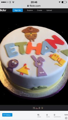 CBeebies loved this Hey Dugee cake. Perfect for a kid's birthday party. Thomas Birthday Cakes, Twin Birthday Cakes, 2nd Birthday, Birthday Ideas, Happy Birthday, Birthday Parties, Birthday Brownies, Cake 2017, Brownie Cake