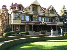 Take a flashlight tour of the Winchester Mystery House. Sarah Winchester, haunted by spirits, built this 160-room estate after the death of her husband and child. Unusual parts of the house include stairs that lead to nowhere, rooms that trap you inside, and a cabinet that opens and extends through thirty rooms of the house.