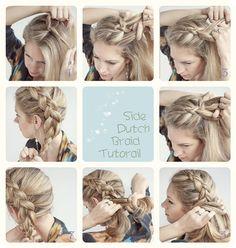 3 Easy Ways Back to School Hairstyles easy side dutch braid tutorail