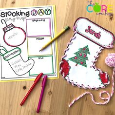 Template and instructions to make your own stockings along with TONS of other stocking related activities. Perfect for the classroom!