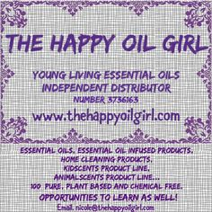 The Happy Oil Girl- Young Living Independent Distributor