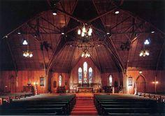 Interior of Trinity Episcopal Cathedral Today - San Jose Ca