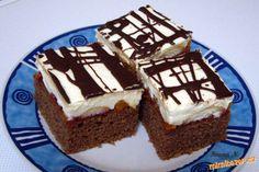 Těsto: 2 hrnky hladké mouky, 1 prášek do pečiva, 1 hrnek cukru krupice, 1 vanilkový cukr, 2 lžíce ka... Cheesecake, Food And Drink, Homemade, Chocolate, Recipes, Cakes, Sweet, Candy, Cheese Cakes