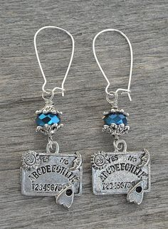 Ouija Board Earrings #horror #paranormal #occult