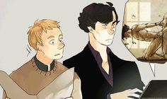 Not really a hardcore Johnlock fan but I love their expressions! lol