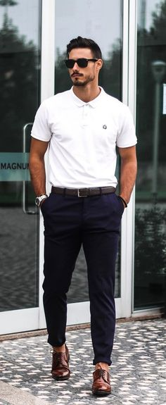 Best Dressed Men Outfit Ideas to Copy Smart Casual Outfit, Men Casual, Smart Casual Menswear Summer, Dress Casual, Casual Outfits, Polo Outfit, Man Dressing Style, Mens Dressing Styles Casual, Casual Styles