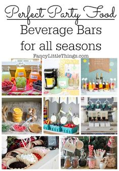 Perfect Party Foods: Beverage Bars for All Seasons | http://fancylittlethings.com/2014/08/perfect-party-foods-beverage-bars-for-all-seasons/
