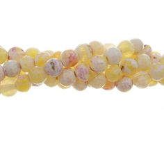 Antique Yellow Agate 6mm Gemstone Bead Strand