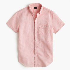 Before there were synthetic fabrics to battle the heat, there was cotton and linen. This lightweight textured fabric actually looks good with a few wrinkles, meaning it will look even better after that long client meeting on a hazy summer afternoon. <ul><li>Classic fit.</li><li>Cotton/Irish linen.</li><li>Button-down collar.</li><li>Flap pocket.</li><li>Machine wash.</li><li>Import.</li></ul>