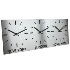 Not necessarily these but three clocks with China and Malaysia time would be useful.