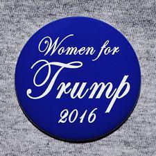 Donald Trump Women for Trump President 2016 Button Pin Republican GOP Blue