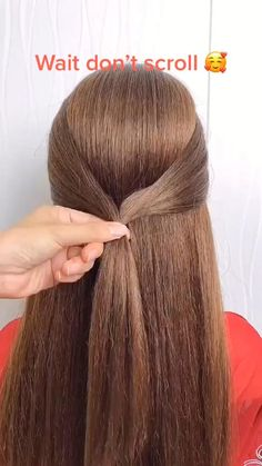 Hairdo For Long Hair, Bun Hairstyles For Long Hair, Pretty Hairstyles, Girl Hairstyles, Braided Hairstyles, Hairdos, Hair Up Styles, Medium Hair Styles, Hair Style Vedio