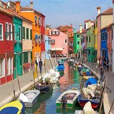 Île de Burano - Venise - Italie.