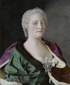 Maria Theresia van Oostenrijk (1717-80), aartshertogin van Oostenrijk, koningin van Hongarije en Bohemen, en Rooms-Duits keizerin, Jean-Etienne Liotard, 1747
