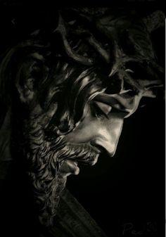 Jesus Christ Quotes, Pictures Of Jesus Christ, Christus Tattoo, Jesus Artwork, Jesus Drawings, Heaven Art, Monochromatic Art, Statue Tattoo, Jesus Photo