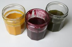 Natural dyes for play dough. DIY.