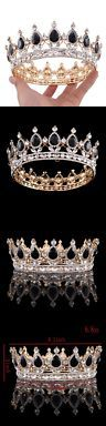 Tiaras and Headbands 105516: Ulike2 King Queen Crown Red Ruby Stone Sapphire Tiaras Gold Silver Plated Hair -> BUY IT NOW ONLY: $31.44 on eBay!