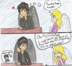 Fang and Angel from Maximum Ride.