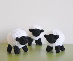 Handmade Crochet Dolls by LinaMarieDolls on Etsy ---------------------  crochet sheep // handmade // amigurumi // little lamb // black sheep // bamboo yarn // white and black sheep // baby crochet gift