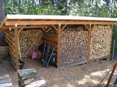 24x12, 3 bays of 8x12, open both front and back for access which helps facilitate wood rotation. Maybe add a smaller 4th bay for kindling. Designed with 2ft overhangs all around, to maximize the plywood and metal roof use/layout.