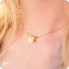 ibiza musthaves kettinkje initial coin birth stone gold ♡ available at www.ibizamusthaves.nl