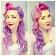 Traveling with this beautiful soul, who has been in my. Creative Hairstyles, Fancy Hairstyles, Vintage Hairstyles, Girl Hairstyles, Hairdos, Vintage Waves, Retro Vintage, Peonies Season, Rockabilly Hair