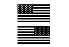 Set of American Flag Car Decals Jeep Decals by TheVinylBeach
