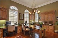 Traditional (Victorian, Colonial) Home Office by Adrienne Dorig