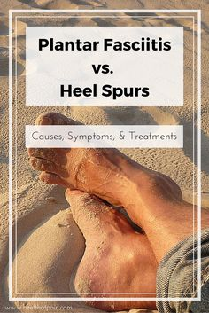 Do you know the subtle differences between Plantar Fasciitis and Heel Spurs? Click to learn the different causes, symptoms, and treatments - Pin to save for later!