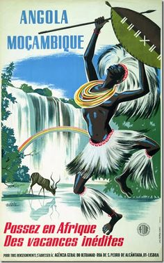 Buy online, view images and see past prices for Angola Moçambique. Old Posters, Retro Poster, Vintage Travel Posters, Uganda, Fosse Commune, Pub Vintage, Tourism Poster, Tribal Dance, Airline Travel