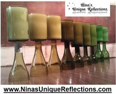 Scented Wine Bottle Candles 16 oz Customize Your por UReflections