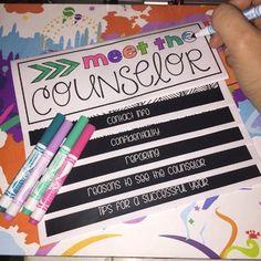 Meet the Counselor Flip 'n Color Book * editable