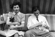 0 james mason at home with his wife pamela -kelling and their two cats
