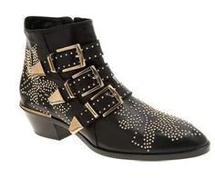 WISHLIST-ed. It can't get any better than this. Chloe triple buckled studded boots