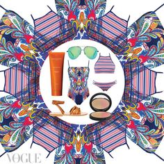 The Vogue Instagram edit: first day of summer essentials, featuring #aquabluswim.
