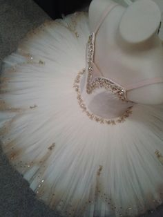 Aurora's Wedding tutu by Margaret Shore with gold-edged petal overlay