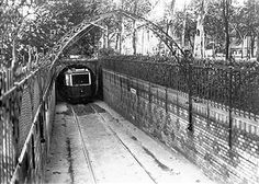Germany; Berlin: tram in the river Spree tunnel between Treptow and Stralau 1929